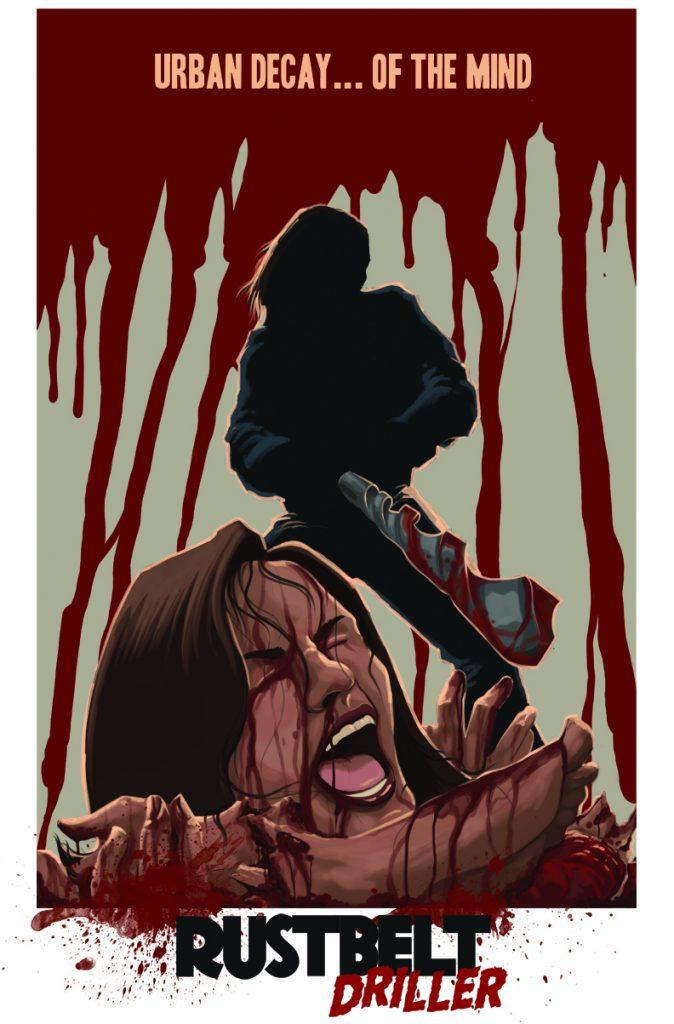 Rust Belt Driller Official Marquee - Indie Horror